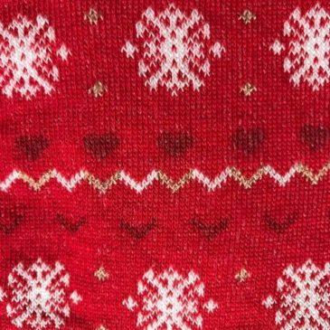Tubolare Rosso con fiocco neve