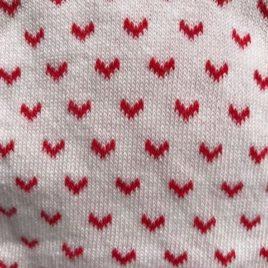 Tubolare in cotone bianco con archetti rossi