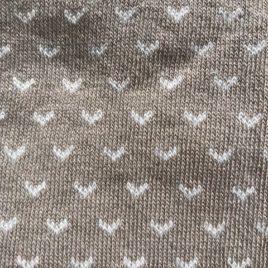Tubolare in cotone beige con archetti bianchi