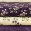 Fantasie floreali Viola/Panna tessuti americani