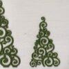 Alberi intarsiati verdi