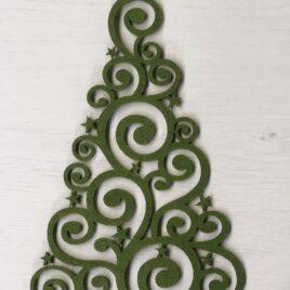 Albero Verde Intarsiato