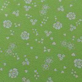 """Verde chiaro """"Rose e Cuori"""" Panna"""