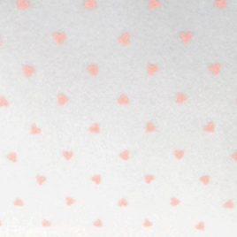 Feltro Stampato Bianco Fantasie Cuore rosa