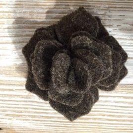 Rosa Elegance in feltro melange Marrone scuro