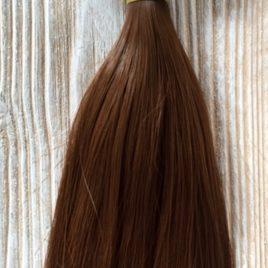 capelli per bambole lisci corti castani