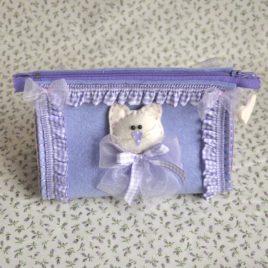 Pochette Triangolare viso gattino